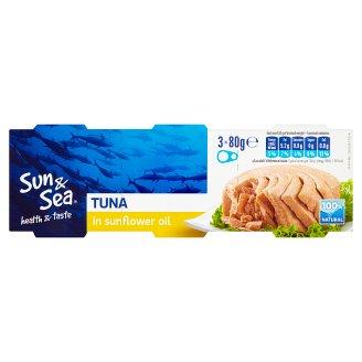 Sun & Sea Tuna in Sunflower Oil 3 x 80g