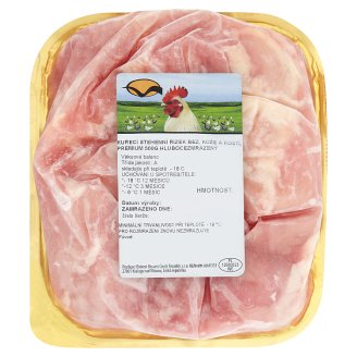 Premium Chicken Thigh Fillet without Skin and Bones Deep-Frozen 500g