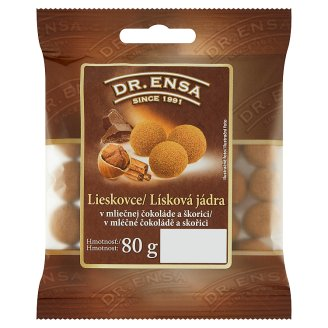 Dr. Ensa Hazelnuts in Milk Chocolate and Cinnamon 80g