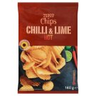 Tesco Fried Potato Chips with Flavor of Chilli and Limes 140g