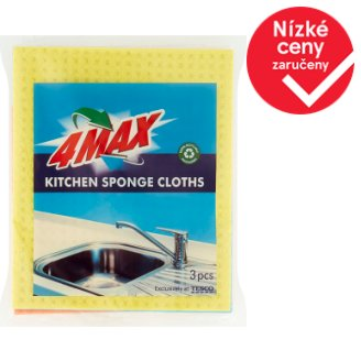 4MAX Kitchen Sponge Cloths 3 pcs