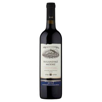 Víno Nitra Selection Ruland Blue Slovak Quality Varietal Wine Dry Red Wine 0.75 L