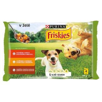 FRISKIES PES VITAFIT výběr s kuřetem, s hovězím a jehněčím v želé 4 x 100g