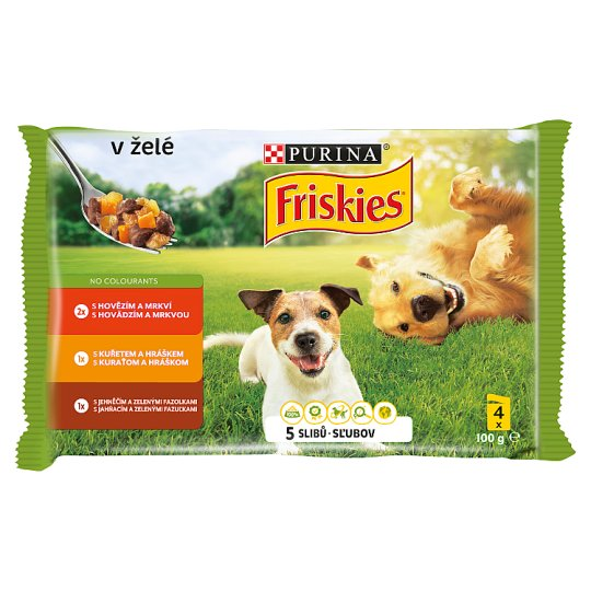 FRISKIES DOG VITAFIT Choice with Chicken, with Beef and Lamb in Jelly 4 x 100g