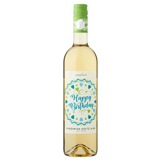 Wine Concept Happy Birthday Debrői Hárslevelű Classical Semi-Sweet White Wine 0.75L