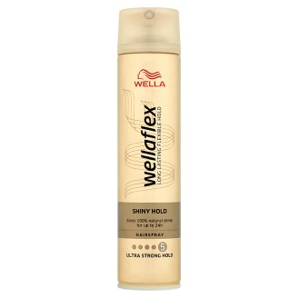 Wella Wellaflex Shiny Hold lak na vlasy Ultra Strong Hold 250ml