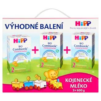HiPP Combiotik 2 Bio kojenecké mléko od ukončeného 6. měsíce 3 x 600g