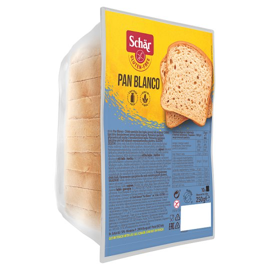 Schär Pan Blanco Special Bread without Gluten Fine White Sliced 250g