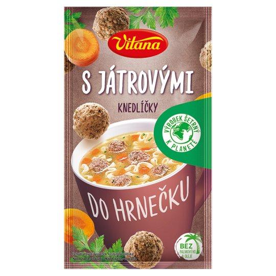 Vitana Do hrnečku Instantní polévka s játrovými knedlíčky 14g