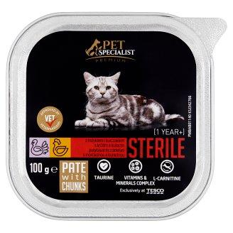Tesco Pet Specialist Premium Sterile paštika s krůtím a kuřecím 100g