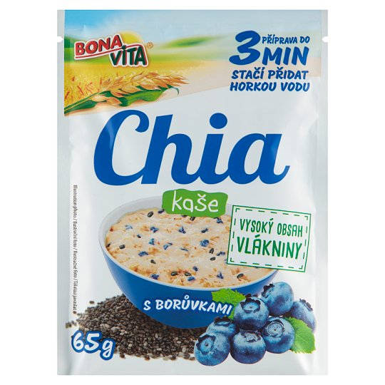 Bona Vita Oat Porridge Chia and Blueberries 65g