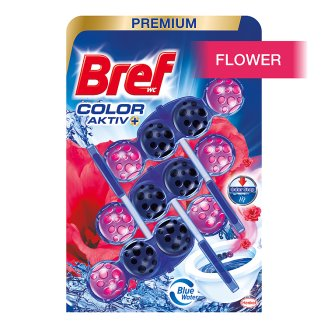 Bref Blue Aktiv Fresh Flowers Solid Toilet Block 3 x 50g