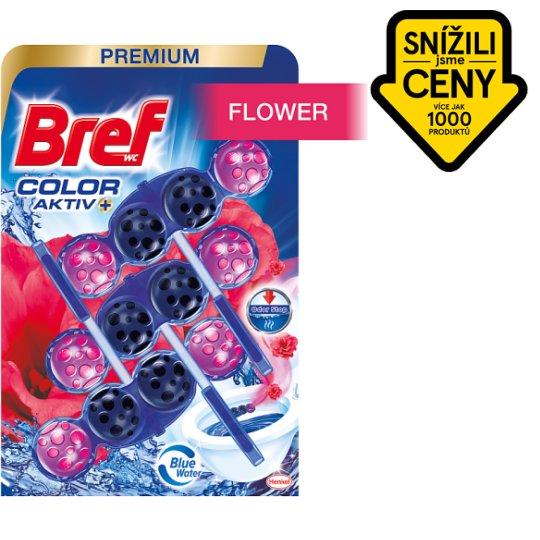 Bref Color Aktiv Fresh Flowers tuhý WC blok 3 x 50g