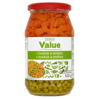 Tesco Value Peas and Carrots 520g