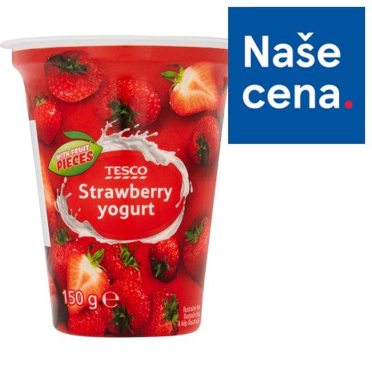 Tesco Yogurt Strawberry 150g