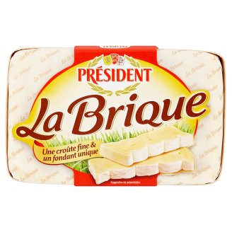 Président La Brique Soft Ripened Cheese with White Mold 200g