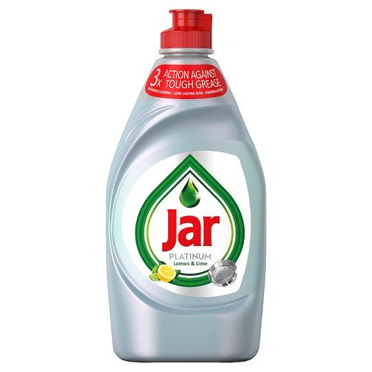 Jar Platinum Washing Up Liquid Lemon &Lime With 3X Action 430ML