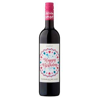 Wine Concept Happy Birthday Medina z horního Maďarska sladké červené víno 0,75l