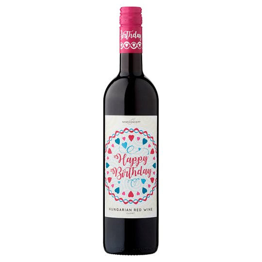 Wine Concept Happy Birthday Medina from Upper-Hungary Sweet Red Wine 0.75L