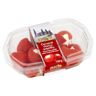 Perla Red Cherry Peppers Stuffed with Cream Cheese 150g