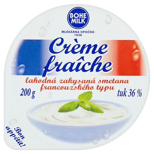 Bohemilk Crème fraîche lahodná zakysaná smetana francouzského typu 36 % 200g