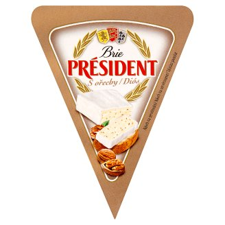 Président Brie with Walnuts 125g