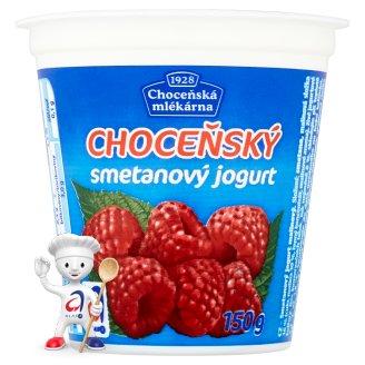 Choceňská Mlékárna Choceňský smetanový jogurt malinový 150g