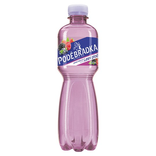 Poděbradka Lightly Carbonated Mineral Water with Forest Berries Flavour 0.5L