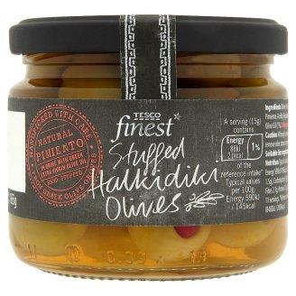 Tesco Finest Olivy plněné chilli papričkami ve slaném nálevu 285g