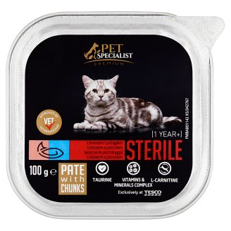 Tesco Pet Specialist Premium Sterile Pate with Salmon and Trout 100g
