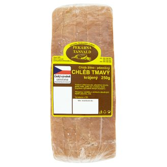 Pekárna Tanvald Rye-Wheat Dark Bread Sliced ​​250g