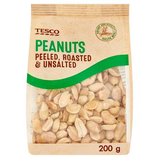 Tesco Peanuts Peeled, Roasted & Unsalted 200g