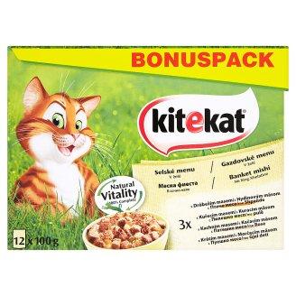 Kitekat Selské menu v želé kompletní krmivo pro dospělé kočky 12 x 100g