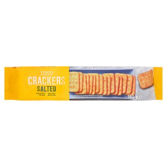 Tesco Crackers Salted 180g