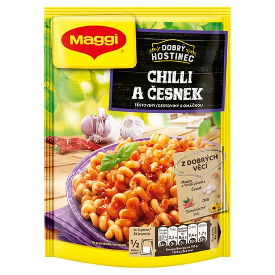 MAGGI Dobrý Hostinec Chilli and Garlic Pasta with Sauce Bag 153g