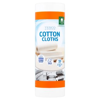 Tesco Cotton Cloths 23 x 25 cm 50 pcs