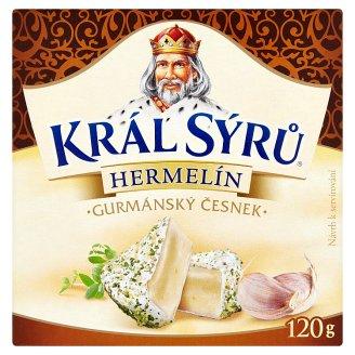 Král Sýrů Hermelín gurmánský česnek 120g