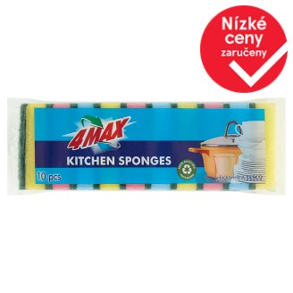 4MAX Kitchen Sponges 10 pcs