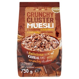 Tesco Cluster Crunchy Muesli with Chocolate 750g