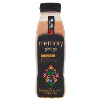 Body&Future Memory Smoothie pro zlepšení paměti - ginko, borůvka, dýně, mandarinka 330ml