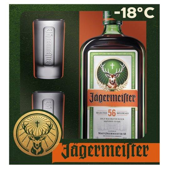 Jägermeister 700ml + 2 sklenice