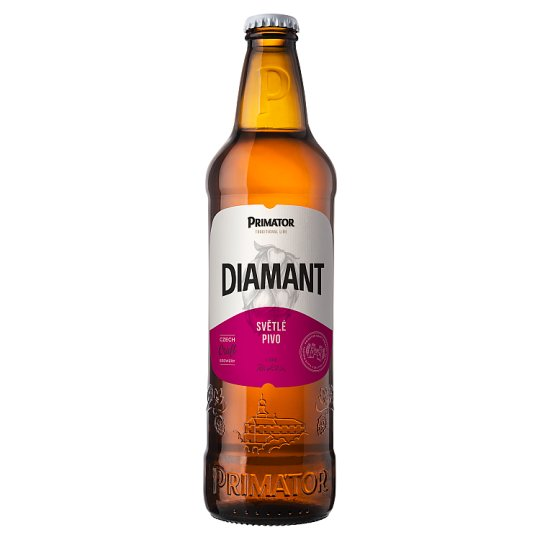Primátor Diamant světlé pivo 0,5l