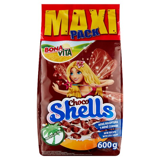 Bona Vita Choco Shells obilné mušličky s kakaem 600g