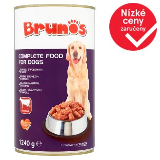Brunos Complete Food for Dogs with Beef 1240g