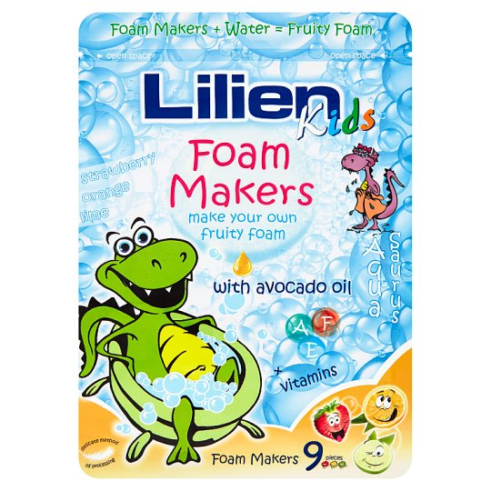 Lilien Kids Foam Makers Lime, Orange and Strawberry 9 x 35g