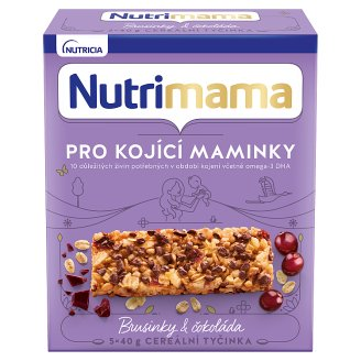 Nutrimama Profutura Cereal Bars Cranberries & Chocolate for Nursing Mothers 5 x 40g