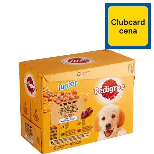 Pedigree Junior Complete Food for Growing Dogs and Puppies with Chicken and Turkey 12 x 100g