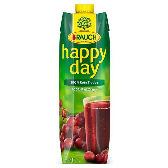 Rauch Happy Day 100% šťáva z červených hroznů 1l