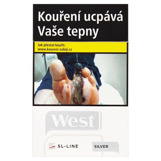 West SL-LINE silver cigarety s filtrem 20 ks