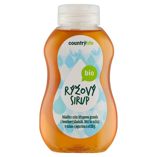 Country Life Bio rýžový sirup 250ml